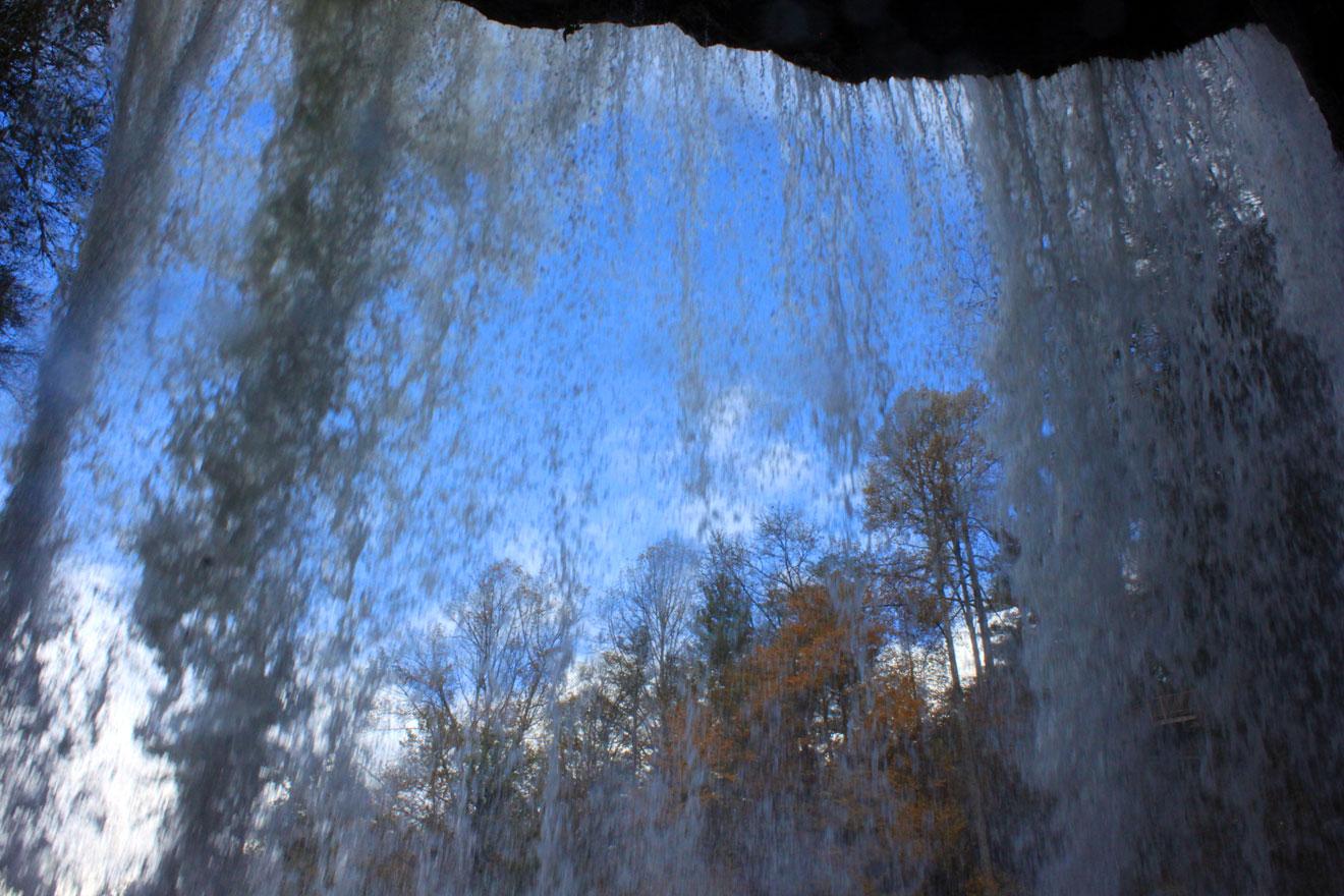 Behind Dry Falls- NC