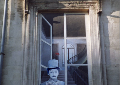 Mime In the Window- Paris, France
