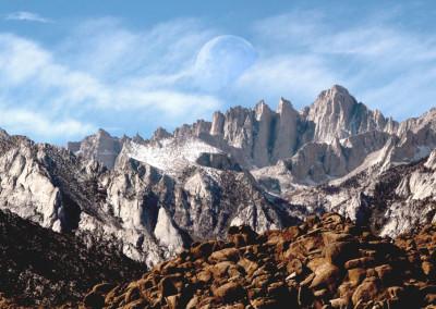 Mt Whitney Moonset- CA