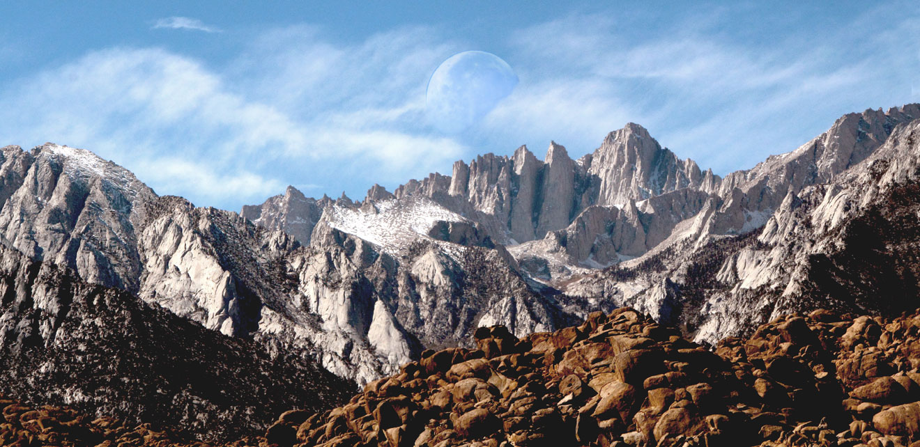 Mt Whitney Moonset- CA